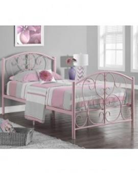 Single Metal Bed - Pink