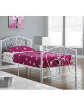 Single Metal Bed - White